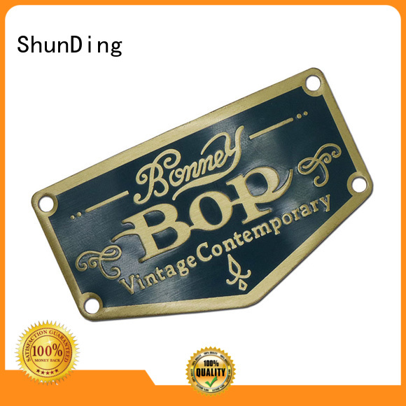 domed epoxy etching metal sticker injected ShunDing