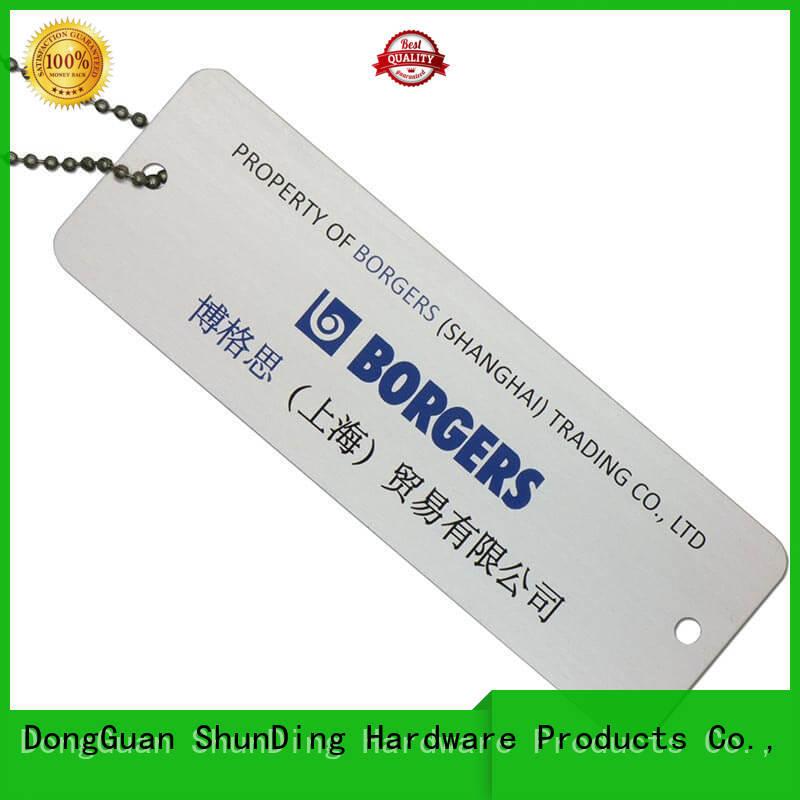 aluminum anodized metal dog tags ShunDing Brand