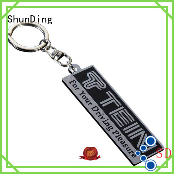 pattern brown beaded OEM key tag ShunDing