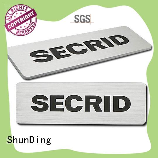 Custom embossed brushing silver Aluminum Nameplate SD-N00004