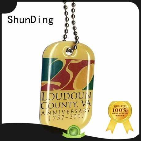 sandblasted chain open metal metal dog tags ShunDing Brand