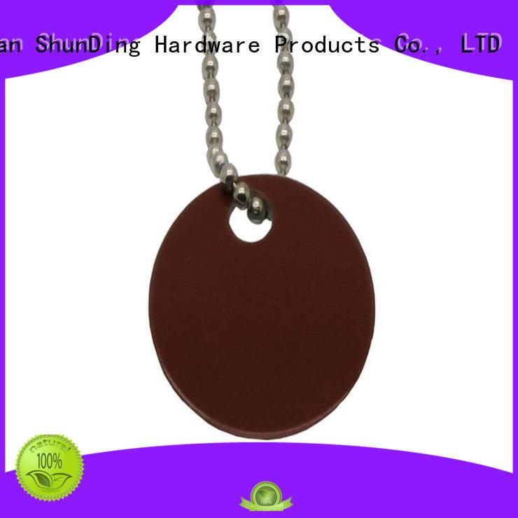 metal dog tags hang tag black ShunDing Brand key tag