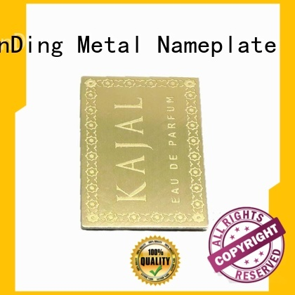 ShunDing fine- quality custom metal labels long-term-use for activist