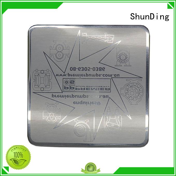 Quality ShunDing Brand wine metal sticker