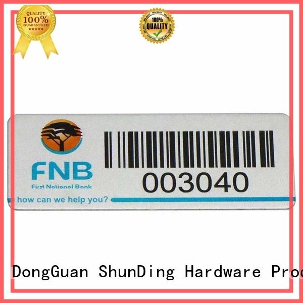 ShunDing Brand logo wine self adhesive metal labels corner