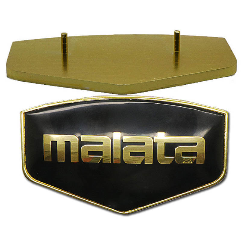 3D domed gold  anodizing epoxy  nameplate