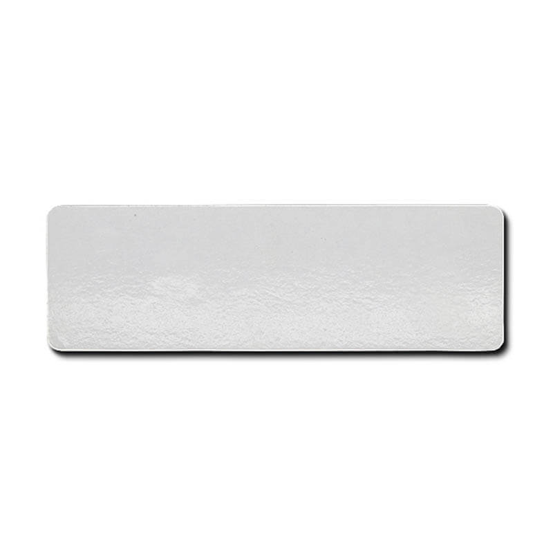 Custom embossed brushing silver Aluminum Nameplate SD-N00004
