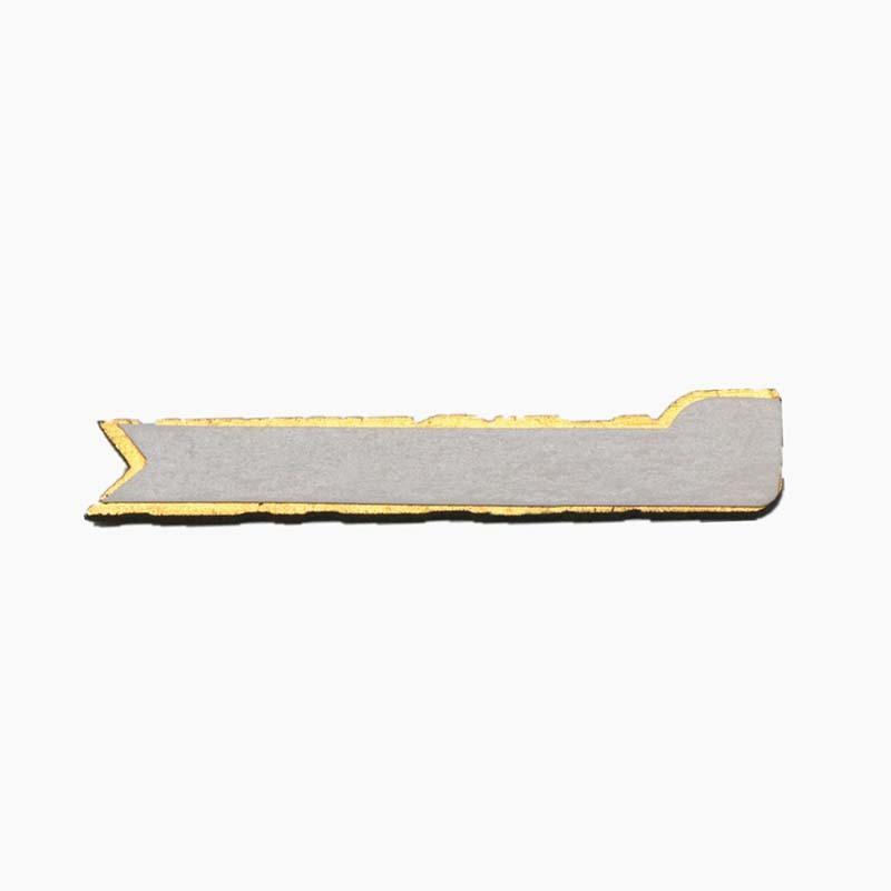 3D Aluminum Diamond Cutting Anodized Golden Adhesive Label SD-L00001