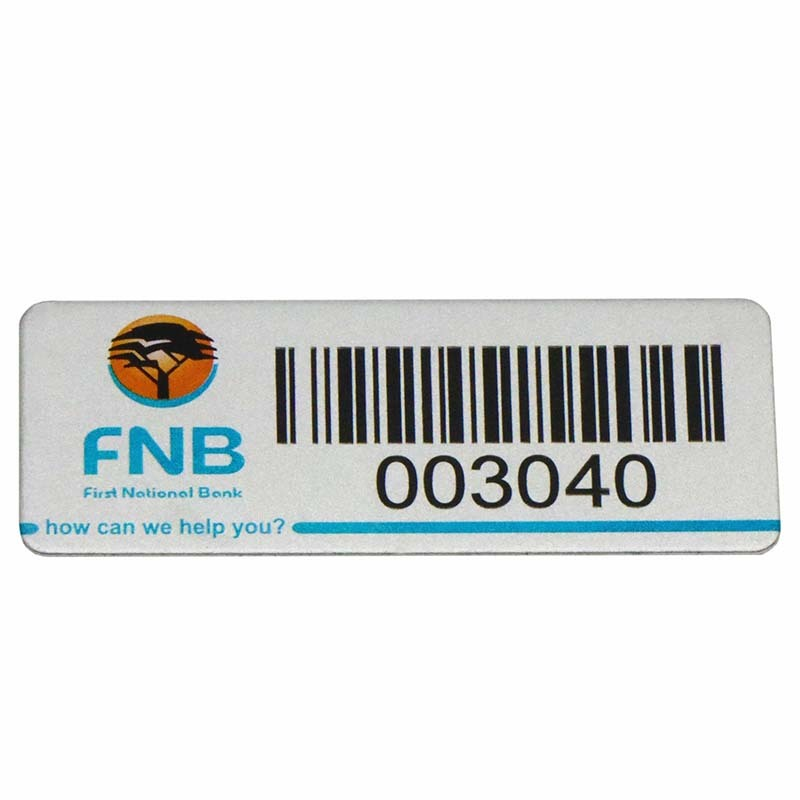 3M Adhesive Aluminum Printing Laser Engraved Barcode Number Label SD-L00002