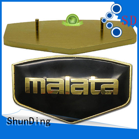 ShunDing gold metal engraved name plates with good price for activist