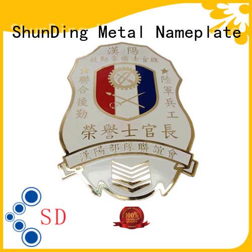 ShunDing fashion custom metal badges for sale for souvenir