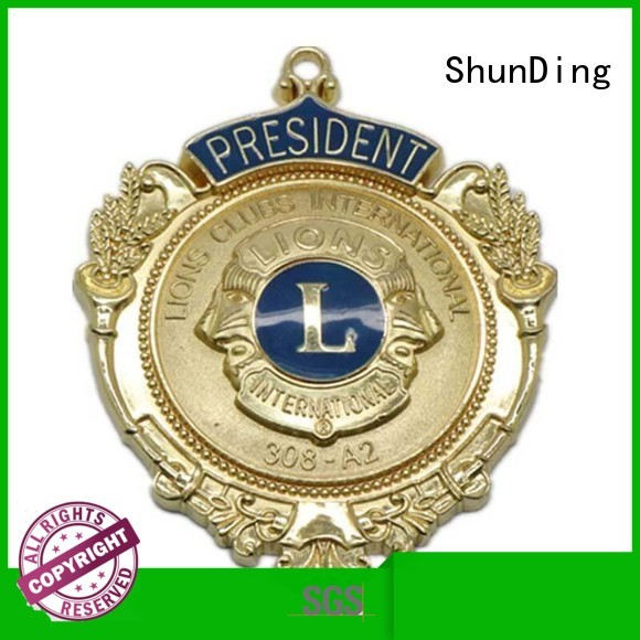 ShunDing magnificent custom metal badges cost for company