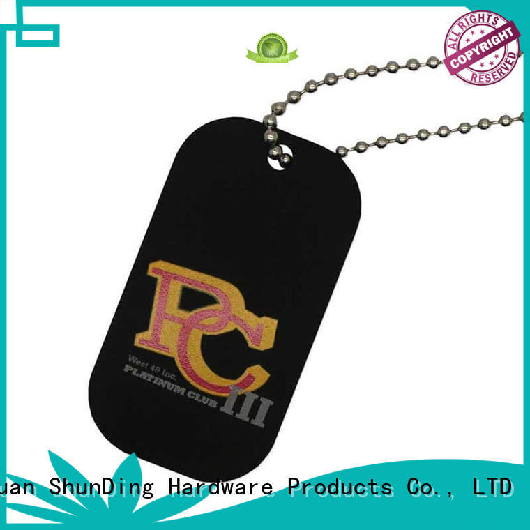 pattern asset tag dog for identification ShunDing
