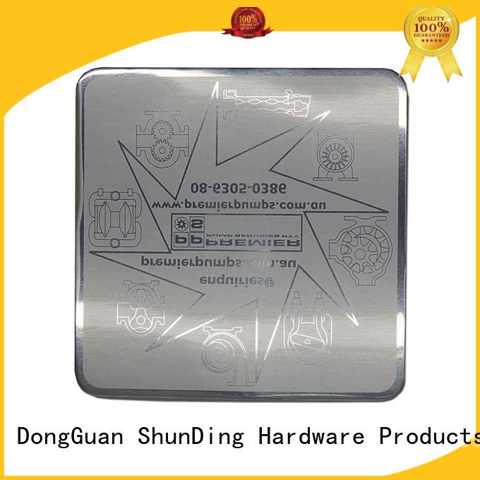 glossy bottle metal sticker ShunDing Brand