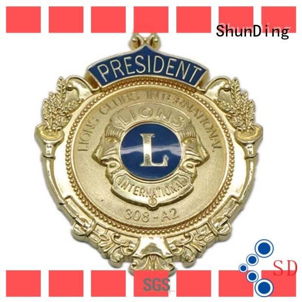 style police metal badge marketing for activist ShunDing