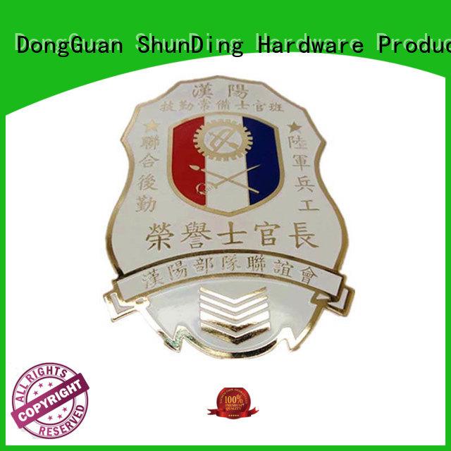 resin diecasting ShunDing Brand metal police badge factory