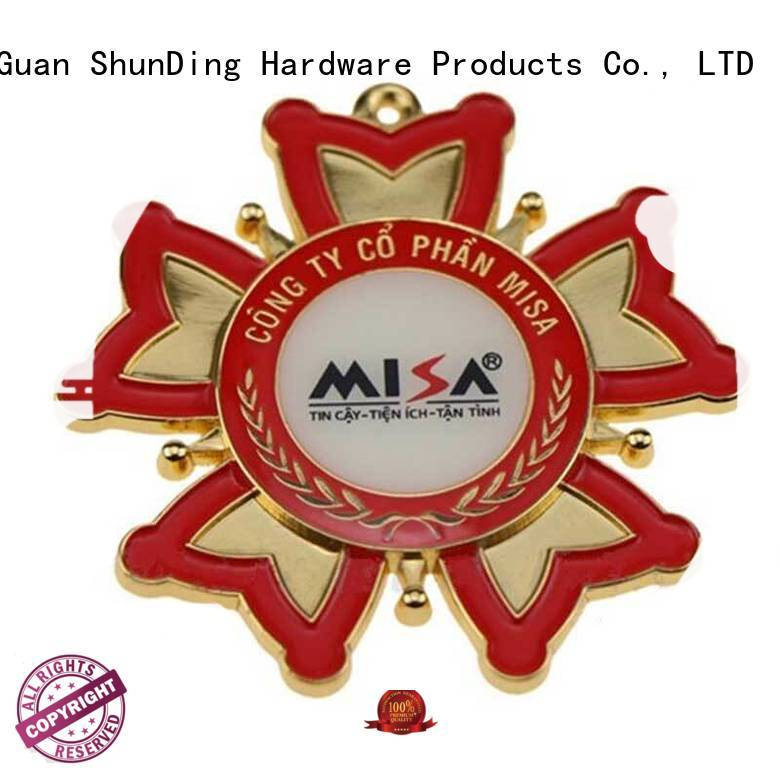 selling design metal badge logo epoxy ShunDing company