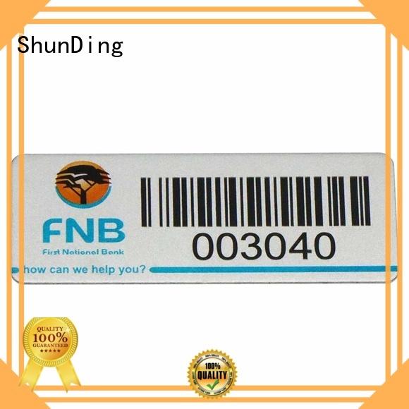 logo Custom engraved barcode labels stainless ShunDing