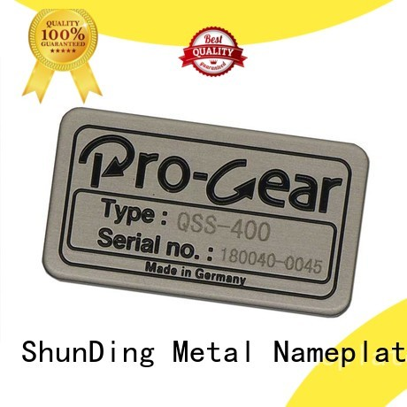 ShunDing advanced aluminium sticker China Factory for identification