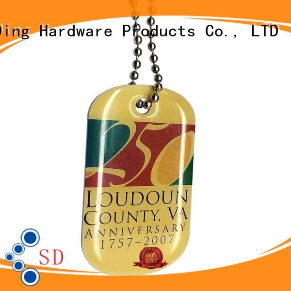 Quality ShunDing Brand metal dog tags sandblasted open