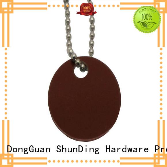 sandblasted metal dog tags beaded printed ShunDing Brand