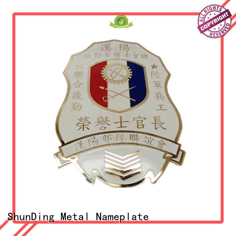 ShunDing stunning custom metal logo badges selling for staff