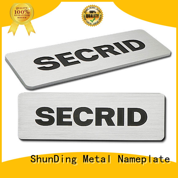 ShunDing quality aluminum name plates from China for identification