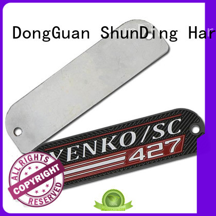 embossing engraved name plates directly sale for identification ShunDing