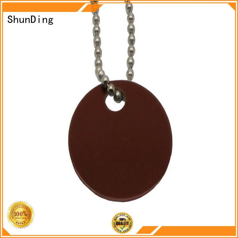 ShunDing Brand beaded garment metal dog tags brown supplier