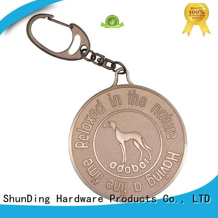 Quality ShunDing Brand brushed key tag