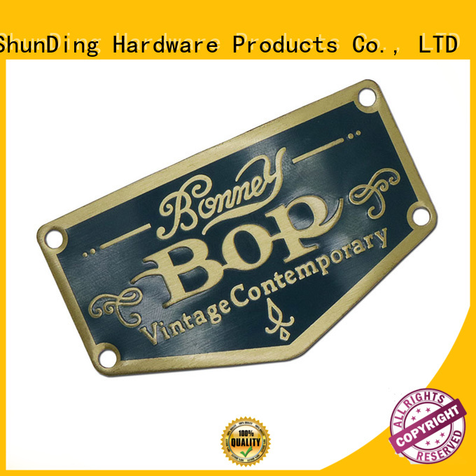 ShunDing resin metal plate sticker with good price for meeting