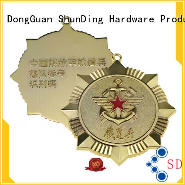 ShunDing Brand style adhesive metal badge diecasting factory