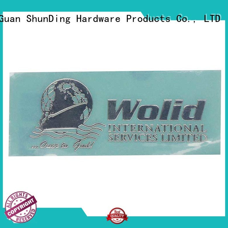 thin metal logo stickers injected ShunDing company