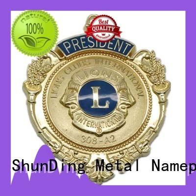 ShunDing make badge metal owner for company