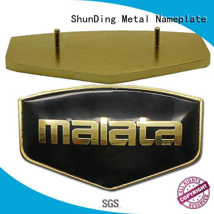 ShunDing hot-sale aluminum name plates luxury for identification