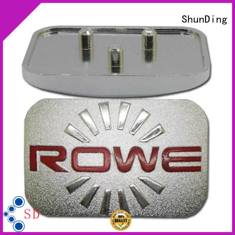 Wholesale car metal name plate ShunDing Brand