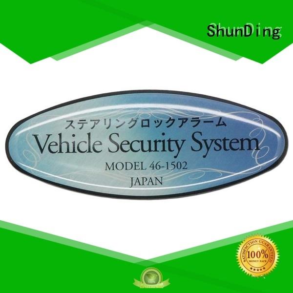 diamond custom metal labels logo for meeting ShunDing