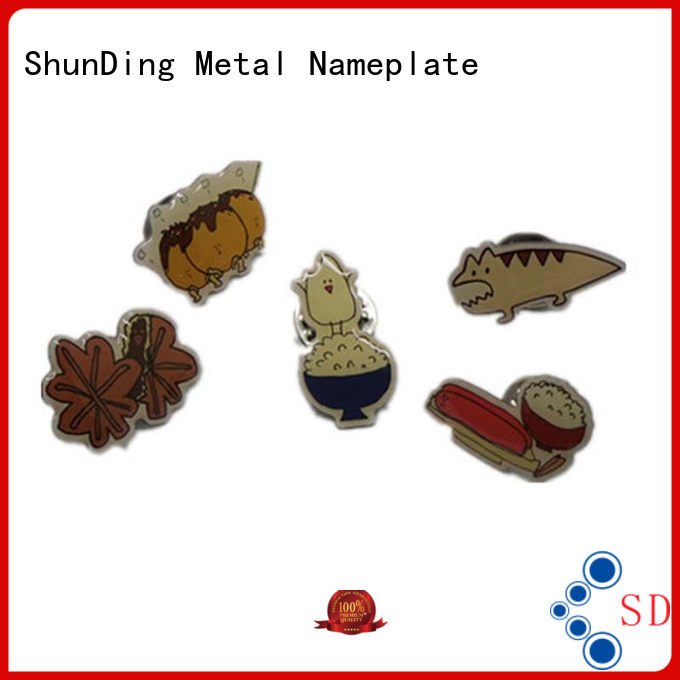 ShunDing adhesive metal logo badge for-sale for auction