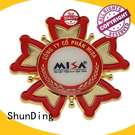 badge resin fancy metal police badge ShunDing manufacture