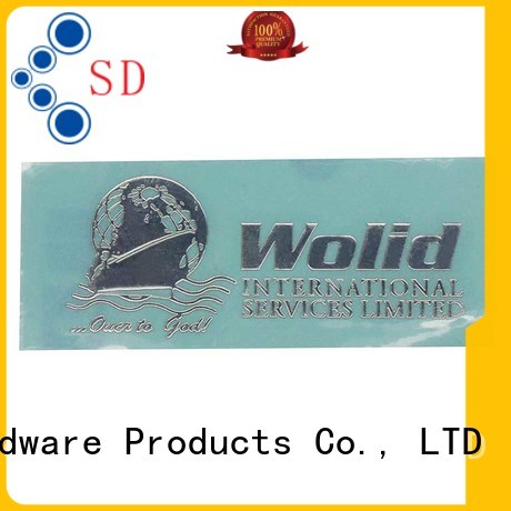 Customized Thin Electroforming Glossy Silver Metal Nickel Sticker SD-S00003