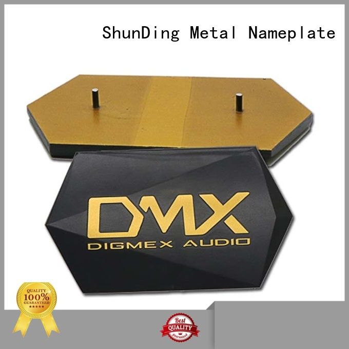 ShunDing embossing engraved name plates with cheap price for commendation