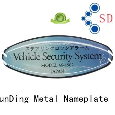ShunDing high-quality custom aluminum labels anodized for staff
