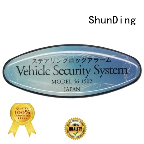 ShunDing epoxy best metal labels free design for staff
