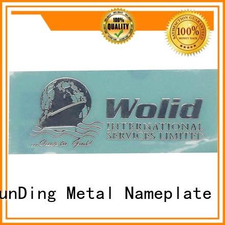 ShunDing fashion aluminium labels stickers inquire now for identification