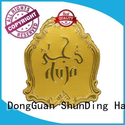 metal clean ShunDing Brand metal logo stickers factory