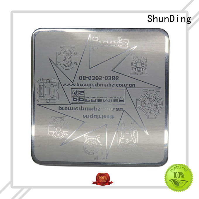 Custom Metal Plate Glossy Aluminum Matte Etching Sticker SD-S00001