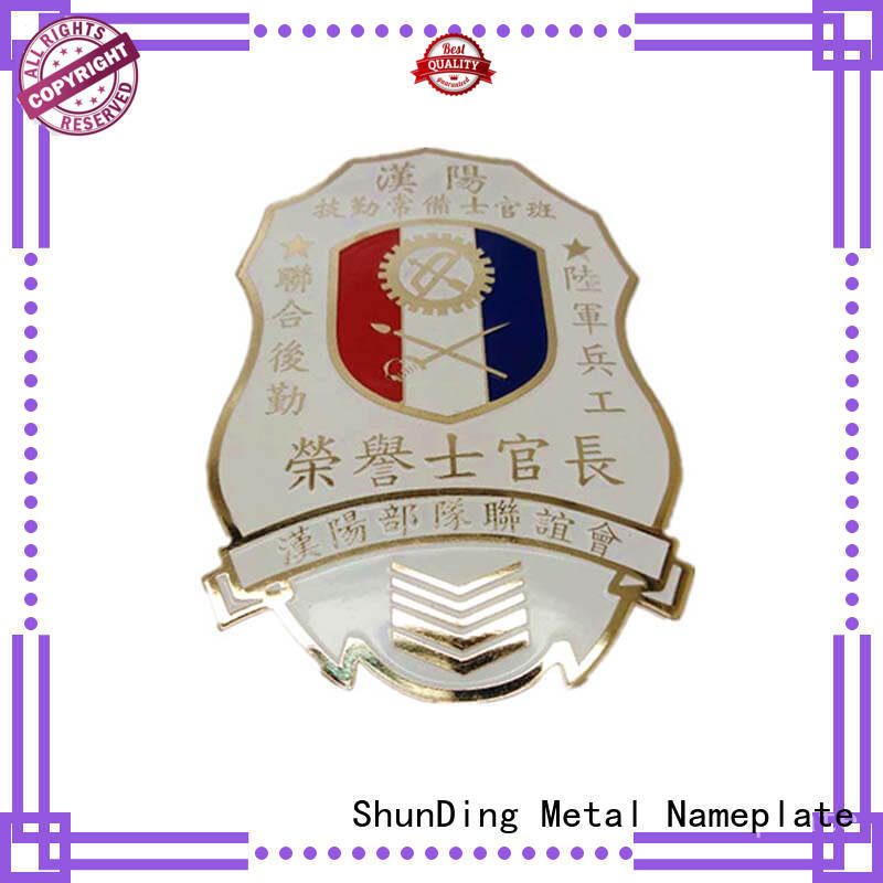 ShunDing fine- quality metal police badge supplier for staff