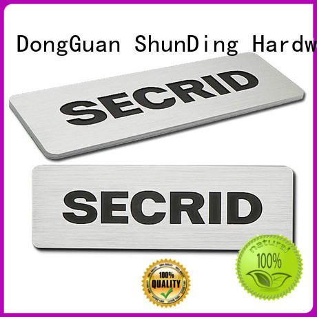 ShunDing gold metal name plate directly sale for company