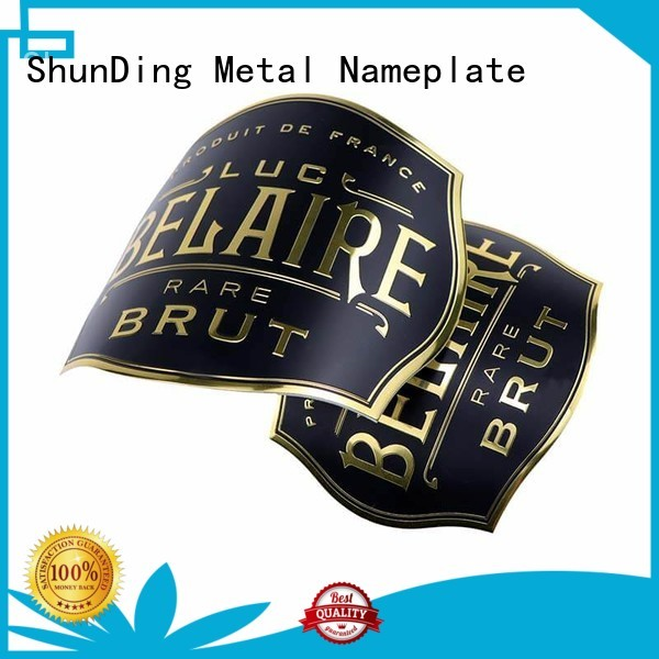 ShunDing hot-sale metal adhesive labels free quote for souvenir