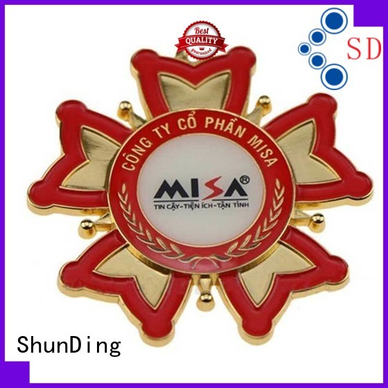 advanced custom metal logo badges price cost for souvenir